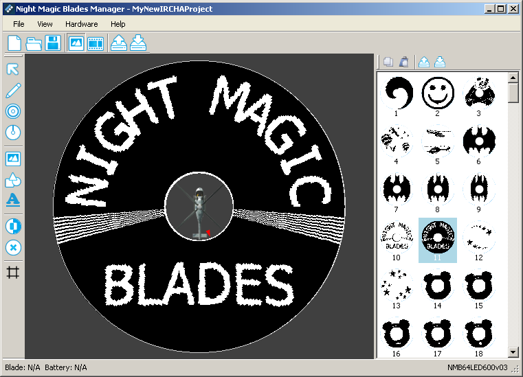 night magic blades software